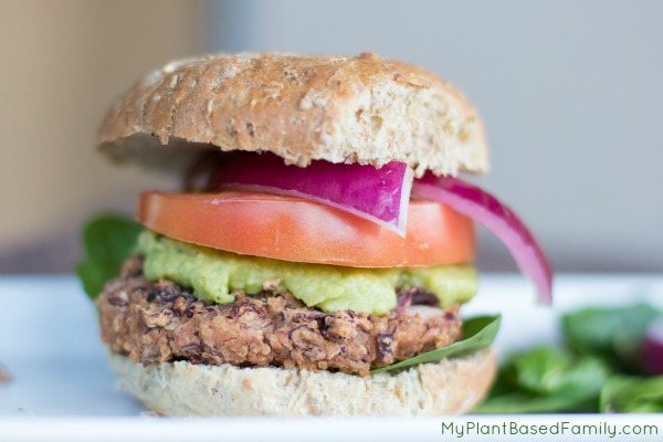Kidney Bean and Quinoa Veggie Burger is a great plant-based option for vegans.