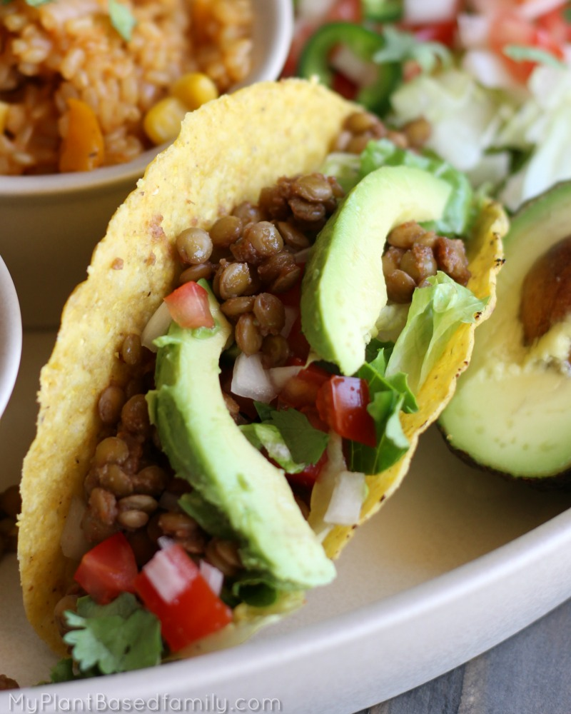 Lentil Tacos are a family favorite! Win over friends and family with these vegan tacos.