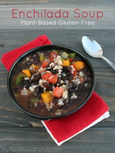 Plant-Based gluten-free Enchilada Soup.
