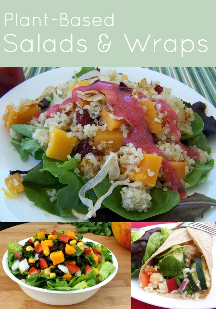 Plant-Based Salads and Wraps
