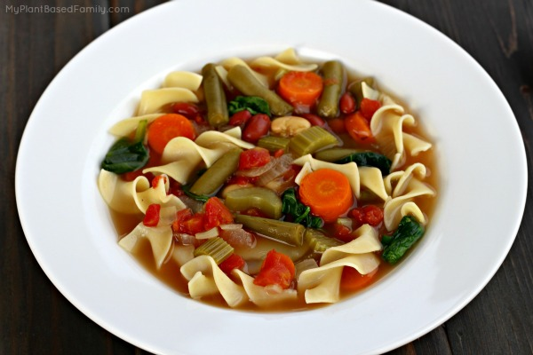 Minestrone Soup is plant-based, easy to make and delicious.