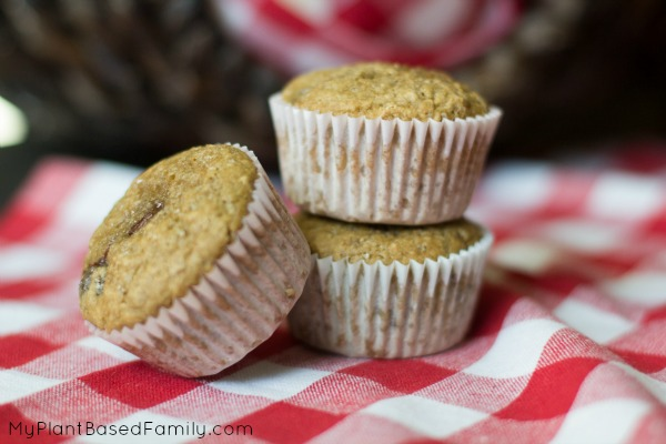 Cherry Muffins that are whole wheat and vegan.