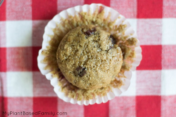 Cherry Muffins are whole wheat, plant-based and vegan.