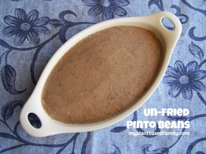 unfried pinto beans
