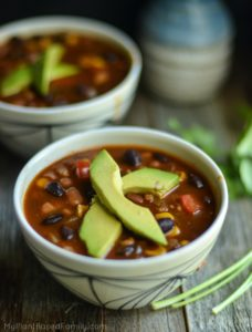 This plant-based diet approved Taco Soup is perfect all year long. If you need a vegan and gluten-free soup recipe try this one!
