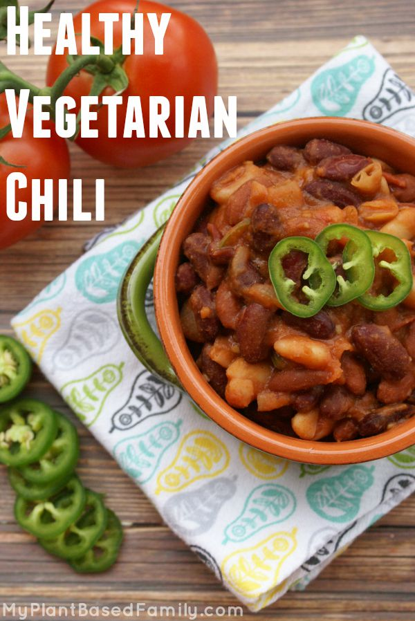 Meatless and gluten-free chili
