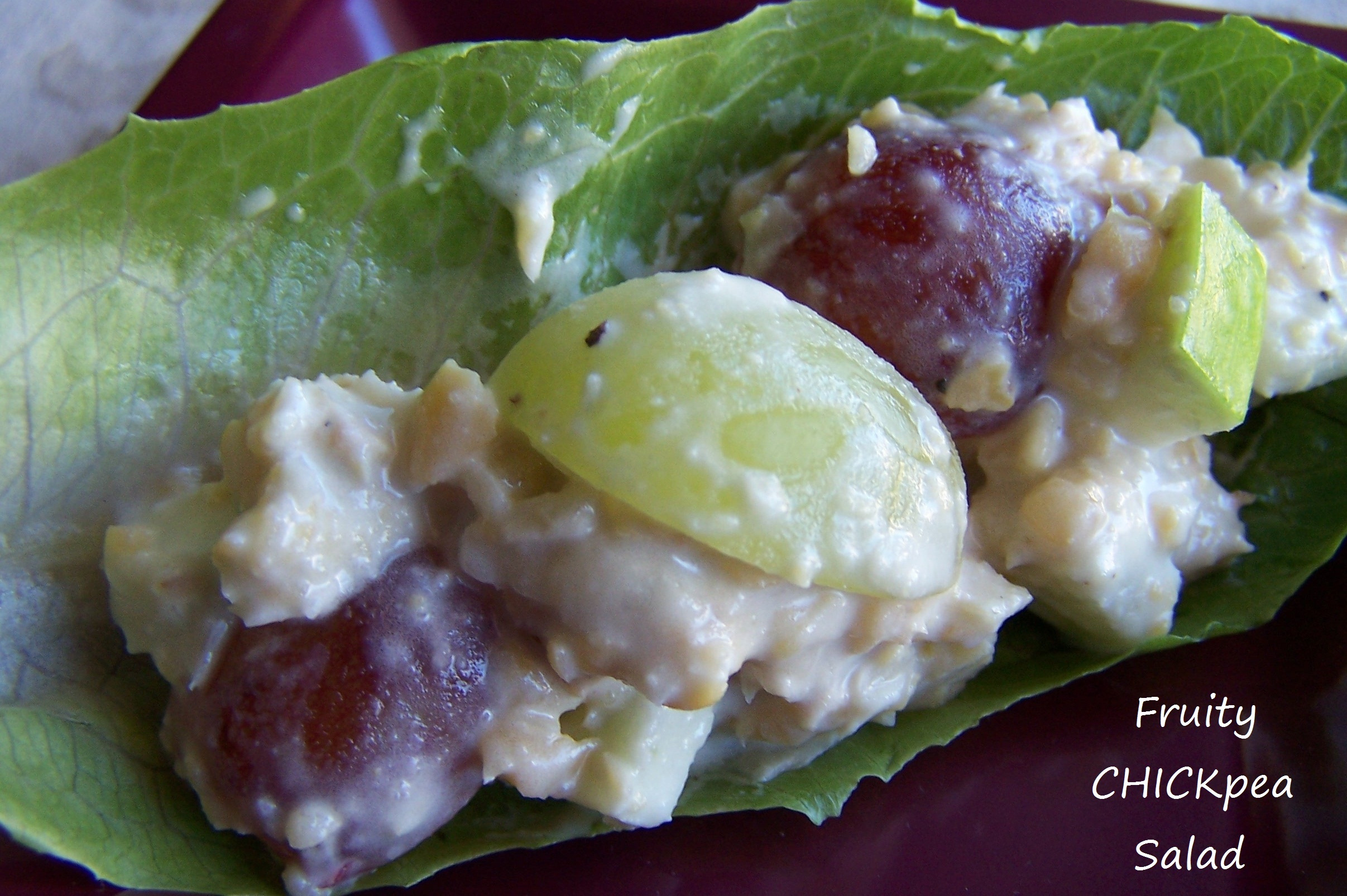 Fruity Chickpea salad in wrap