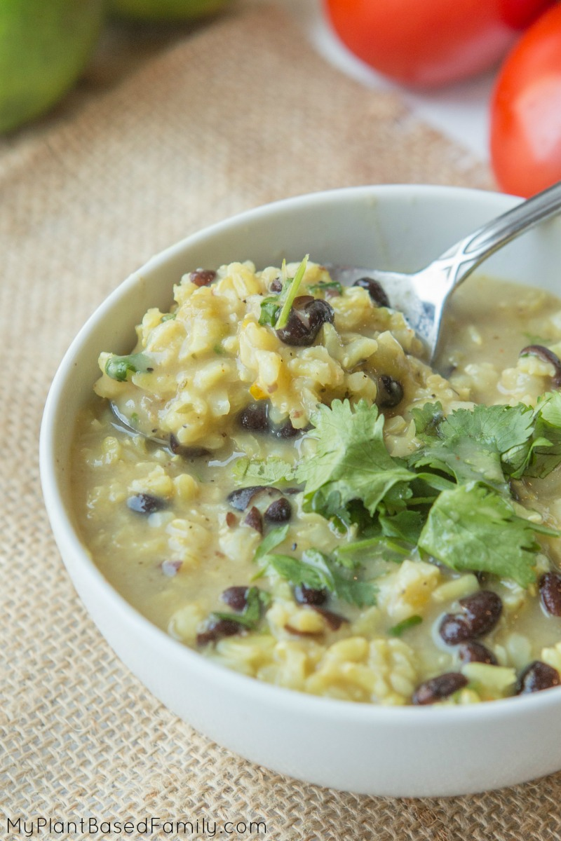 "This Green Chili, Cilantro, and Lime Soup is more of a ""grown up"" soup but don't be surprised if your kids love it too!"