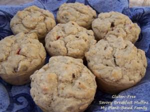 gluten-free and vegan savory breakfast muffins