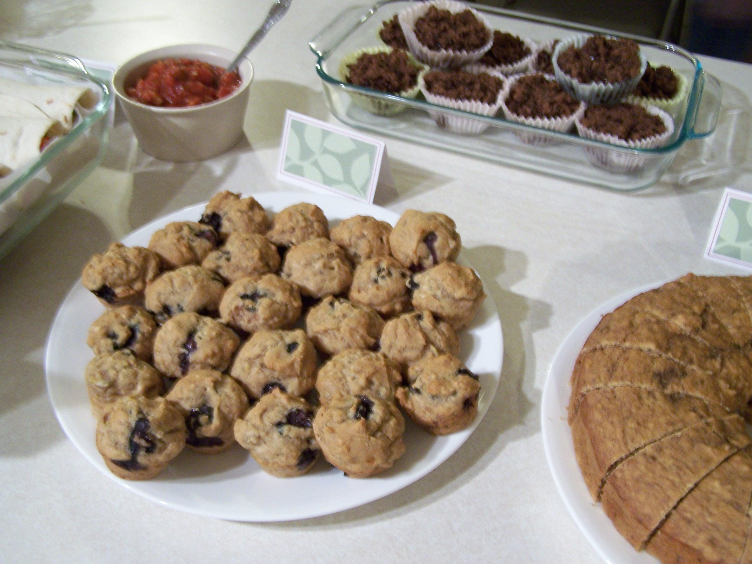 HC March blueberry muffins