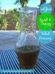 sweet and tangy salad dressing