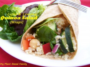 Lemony Quinoa Salad Wraps