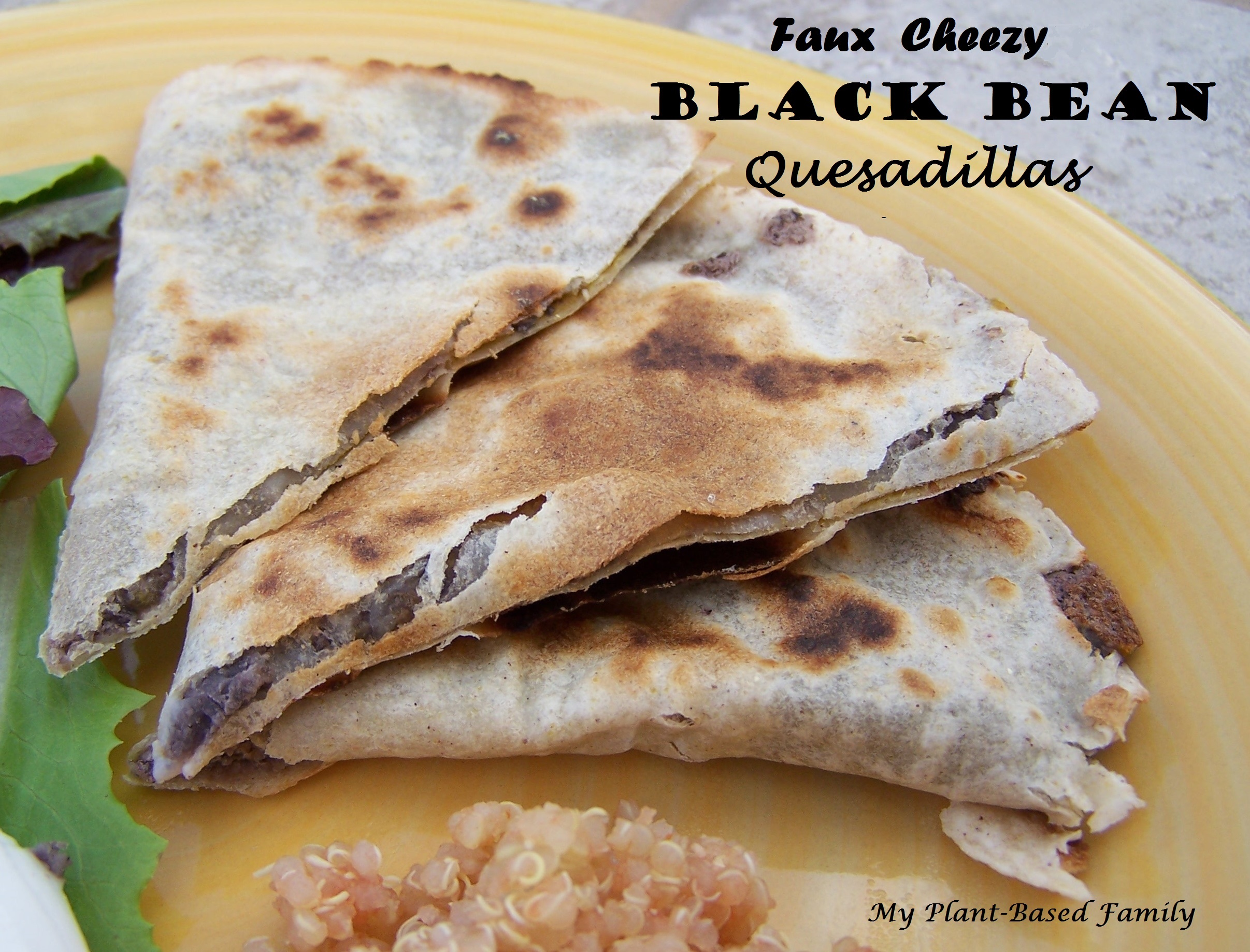 Gluten-Free Vegan Black Bean Quesadillas