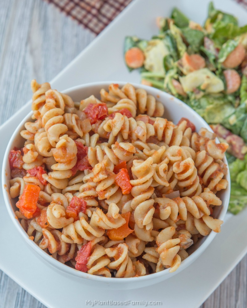 Easy and delicious gluten-free and plant-based Pizza Pasta!