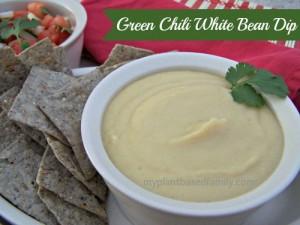 Green Chili white bean dip