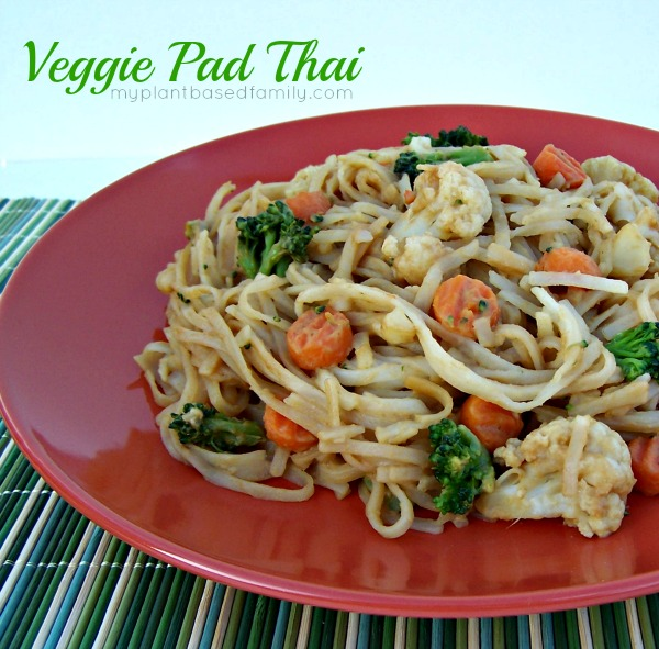 Quick and Easy Veggie Pad Thai - My Plant-Based Family