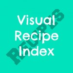 Visual recipe index