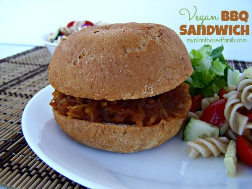 Vegan BBQ Sandwich...You'll never guess the secret ingredient!