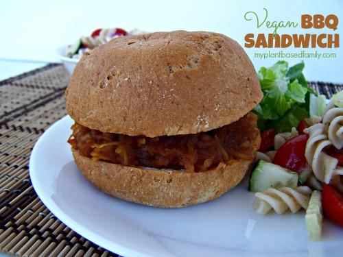 Vegan BBQ Sandwich...You'll never guess the secret ingredient!
