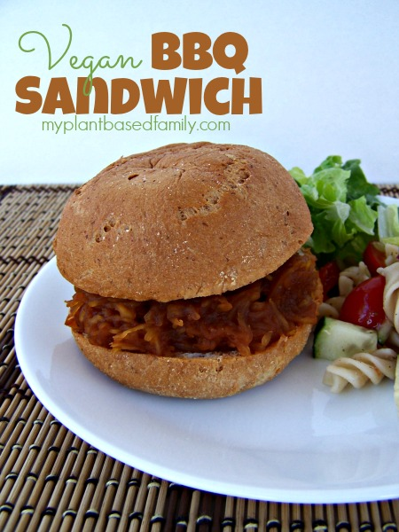 Vegan BBQ Sandwich...You'll never guess the secret ingredient
