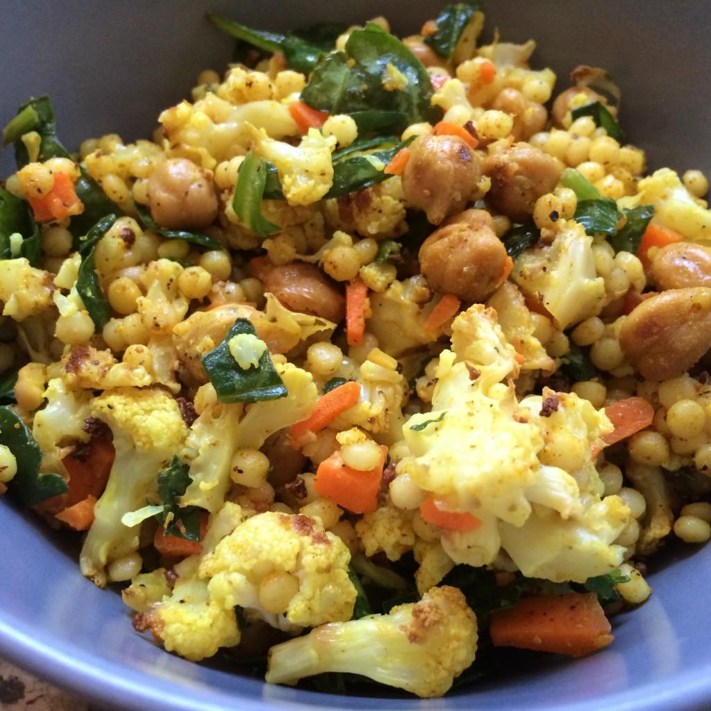 Curried Cauliflower Couscous salad