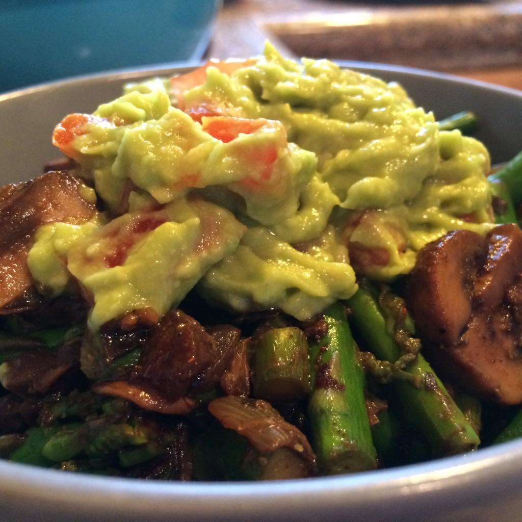 burrito bowl over quinoa