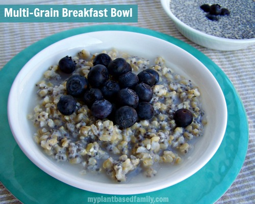multi-grain breakfast bowl is vegan and gluten free