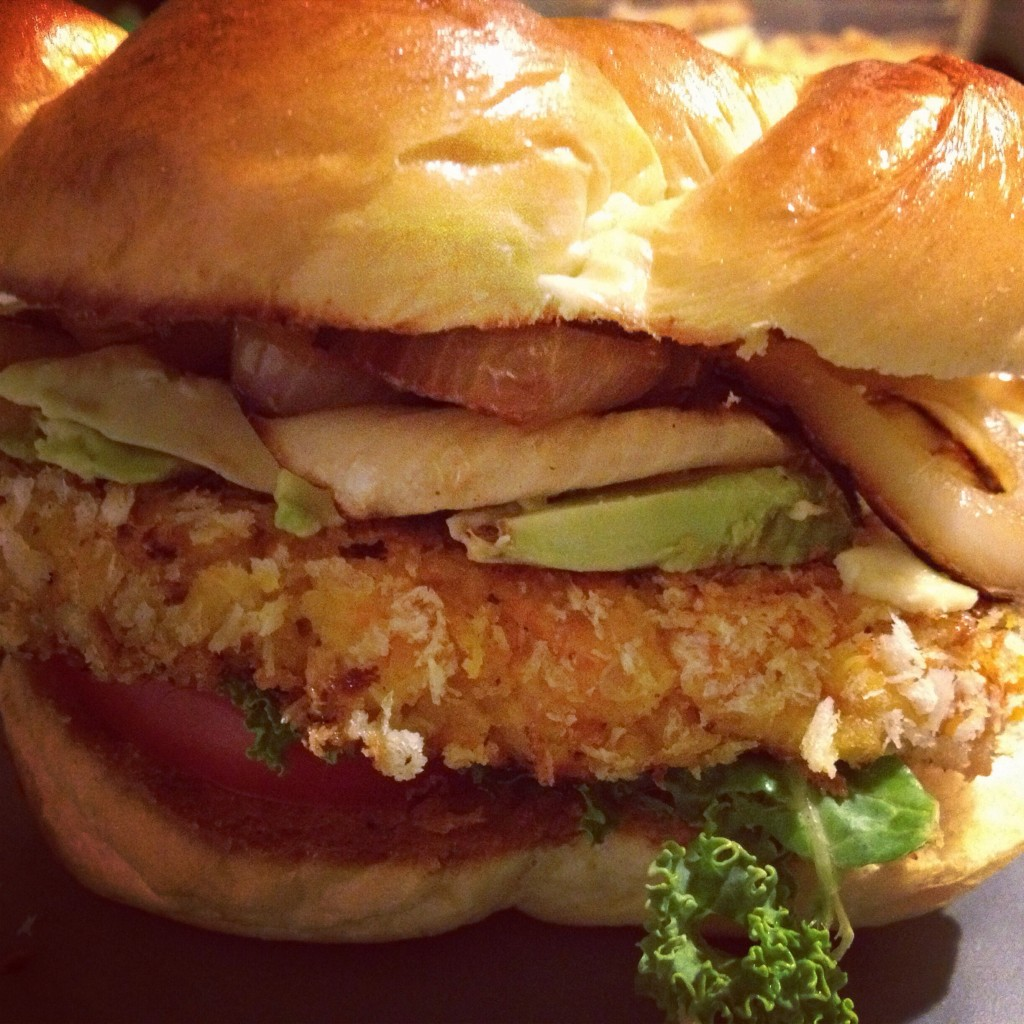 vegan butternut squash burger