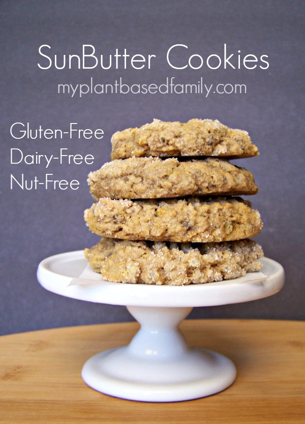 SunButter Cookies that are Vegan, Dairy-Free, Gluten-Free, nut-free