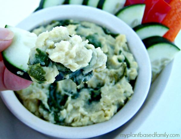 Guilt Free Vegan Spinach Artichoke Dip