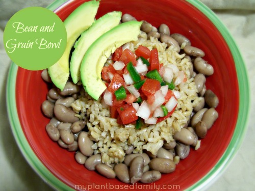 Bean and Grain Bowl that is gluten free and vegan