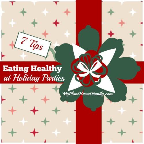 eating healthy at holiday parties