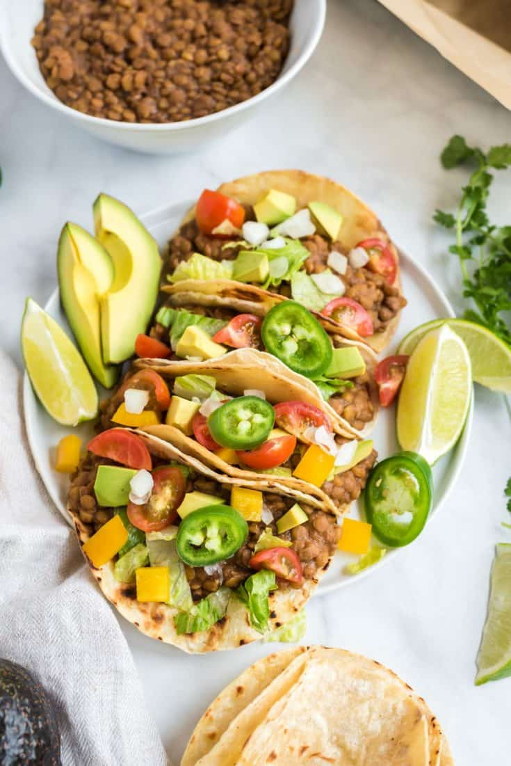 Lentil Tacos in the Instant Pot