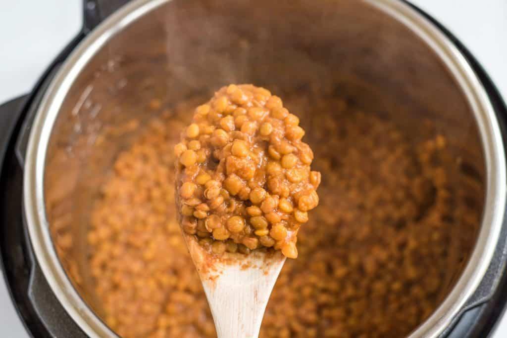 Vegan Instant Pot Lentil Tacos