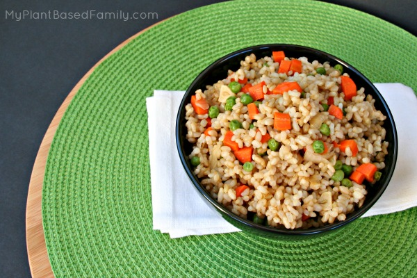 Oil-free Vegan Fried Rice