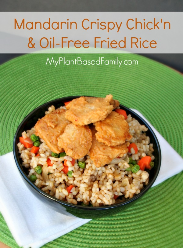 Gardein Mandarin Crispy Chick'n and Fried Rice