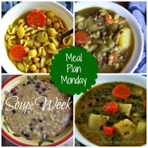 Soup week meal plan