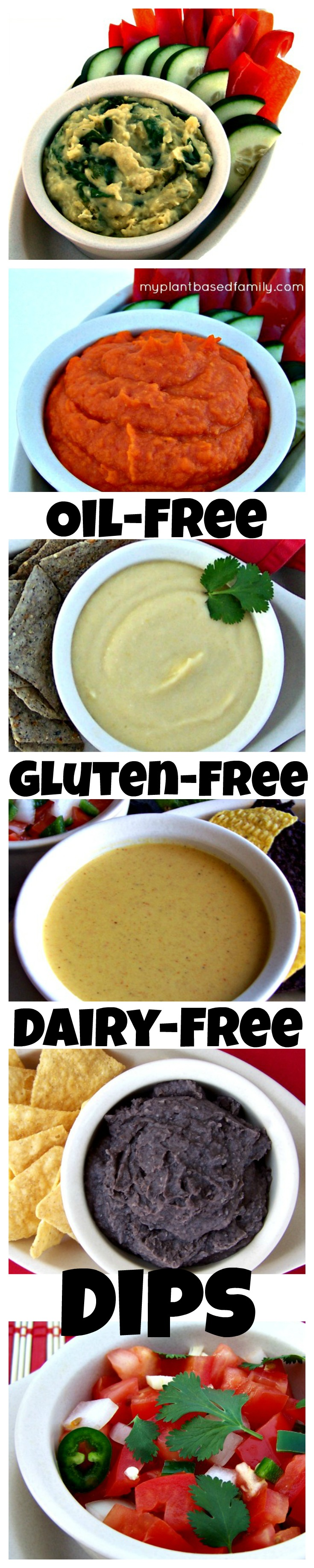 Oil-Free, Gluten-Free Vegan Dips that are easy to make and delicious!