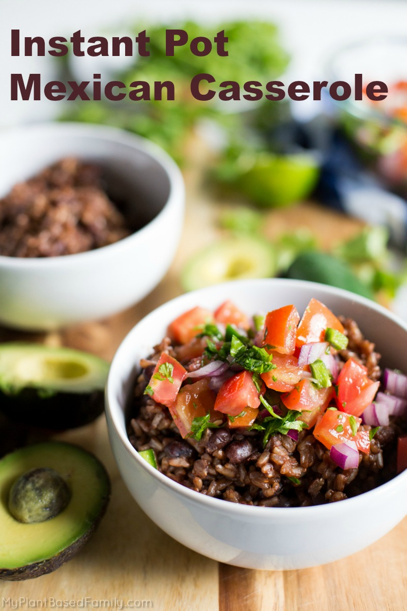 The Instant Pot Mexican Casserole will amaze your family and impress your guests! This should be your go to plant-based recipe for your Instant Pot.