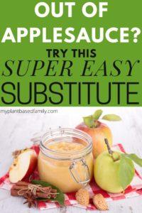 Applesauce Substitute