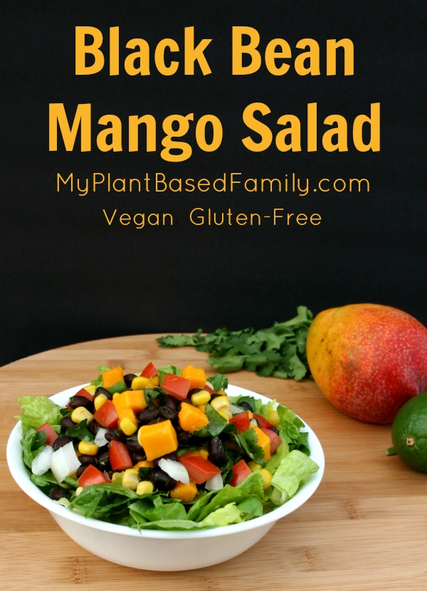Black Bean Mango Salad - My Plant-Based Family