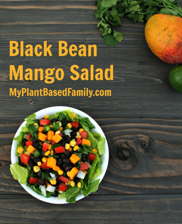 Black Bean Mango Salad Vegan Gluten-Free Plant-Based