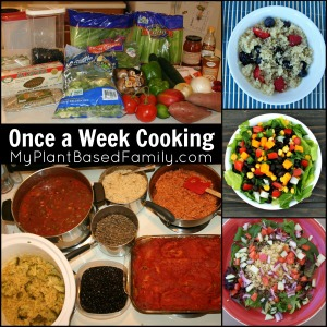 Once a Week Cooking for vegan, plant-based, gluten-free foodies