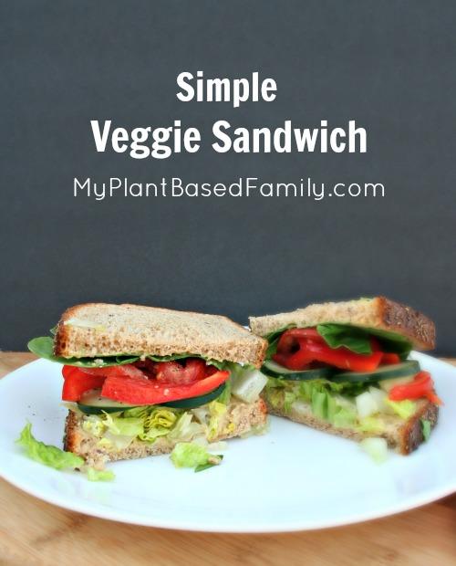 Simple Veggie Sandwich