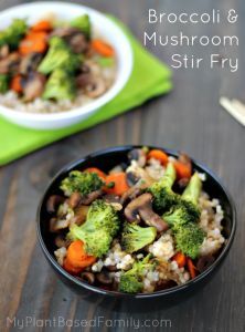 stir fry broccoli and mushroom