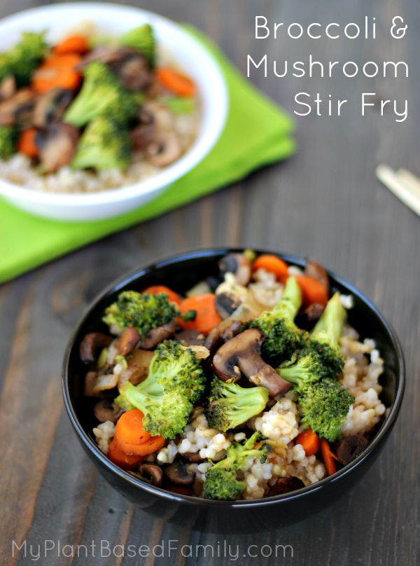 stir fry broccoli and mushroom