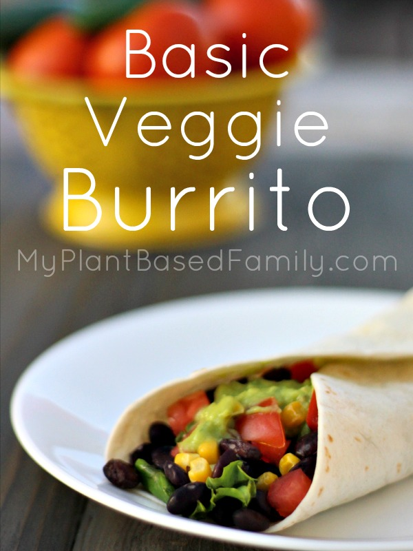The basic Veggie Burrito can be made with whatever you have on hand. This plant-based (vegan) recipe is quick and easy to make.