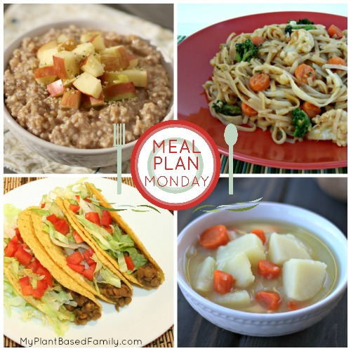 November Meal Plan for a plant-based, vegan diet.