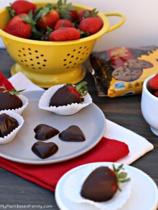 Dairy-Free Chocolate Hearts that are top 8 free.