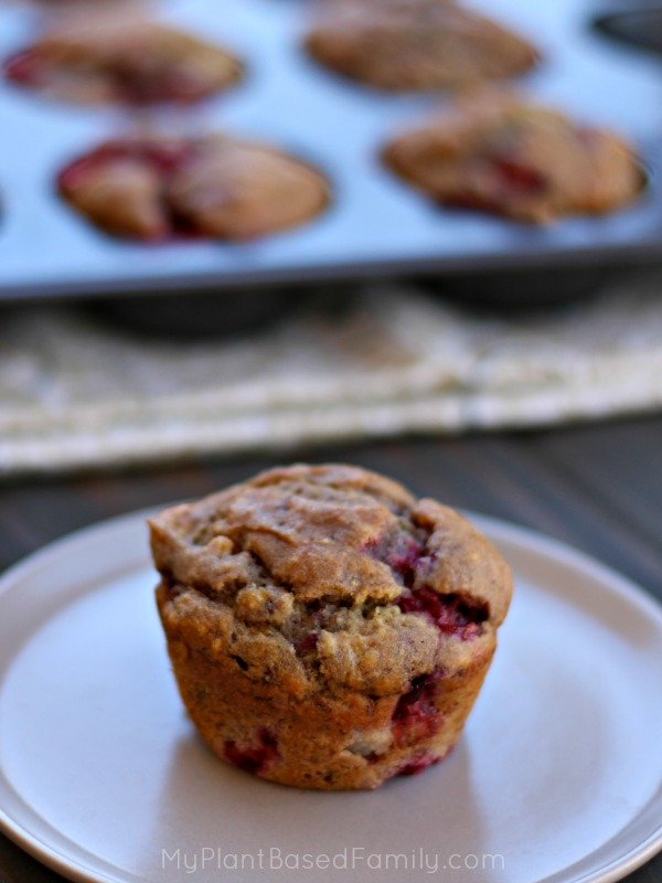 Strawberry Banana Muffins gluten-free and plant-based
